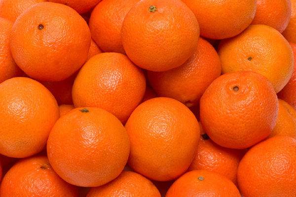 Tangerines background.